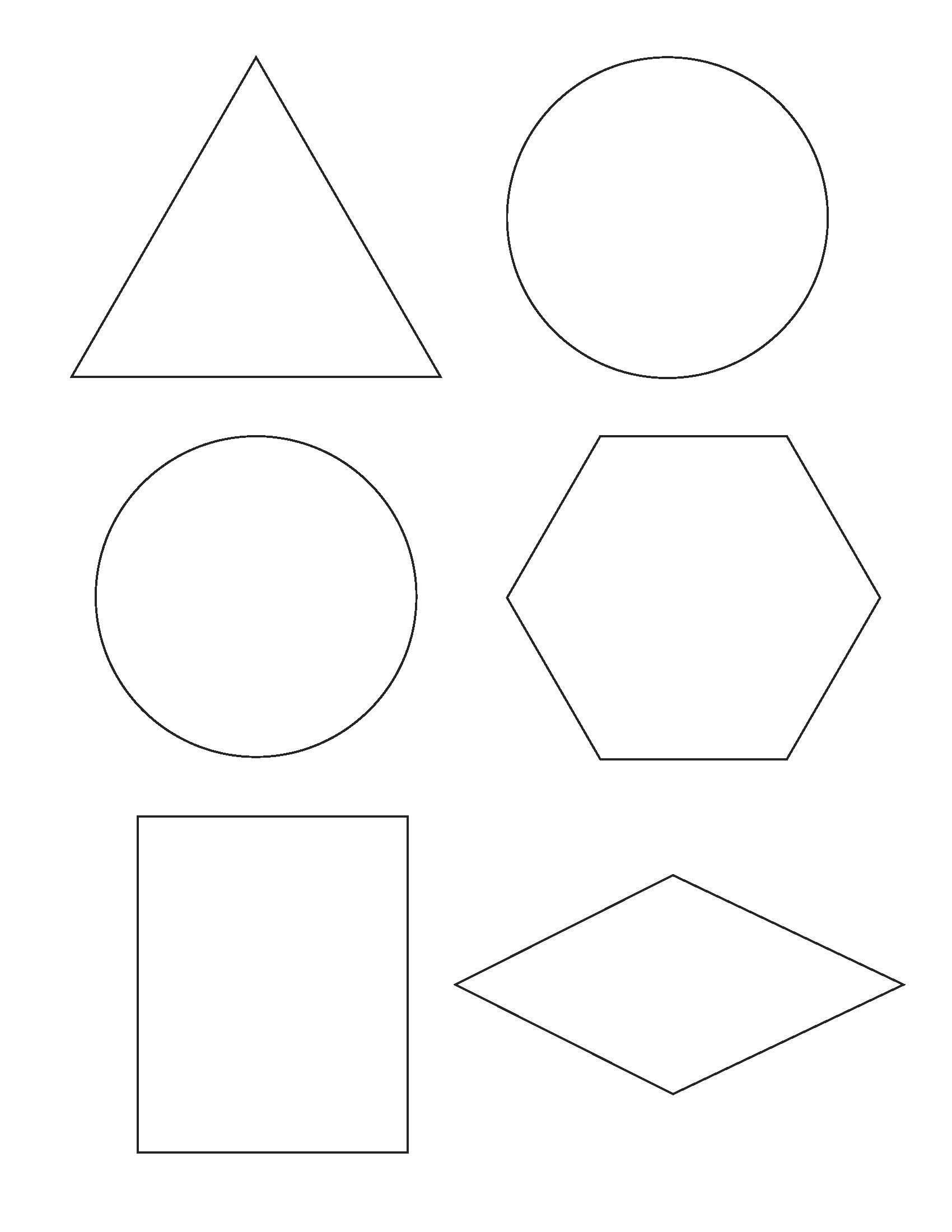 Shocking image with printable shape templates