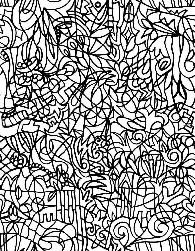 Doodle Mess Colring Sheet