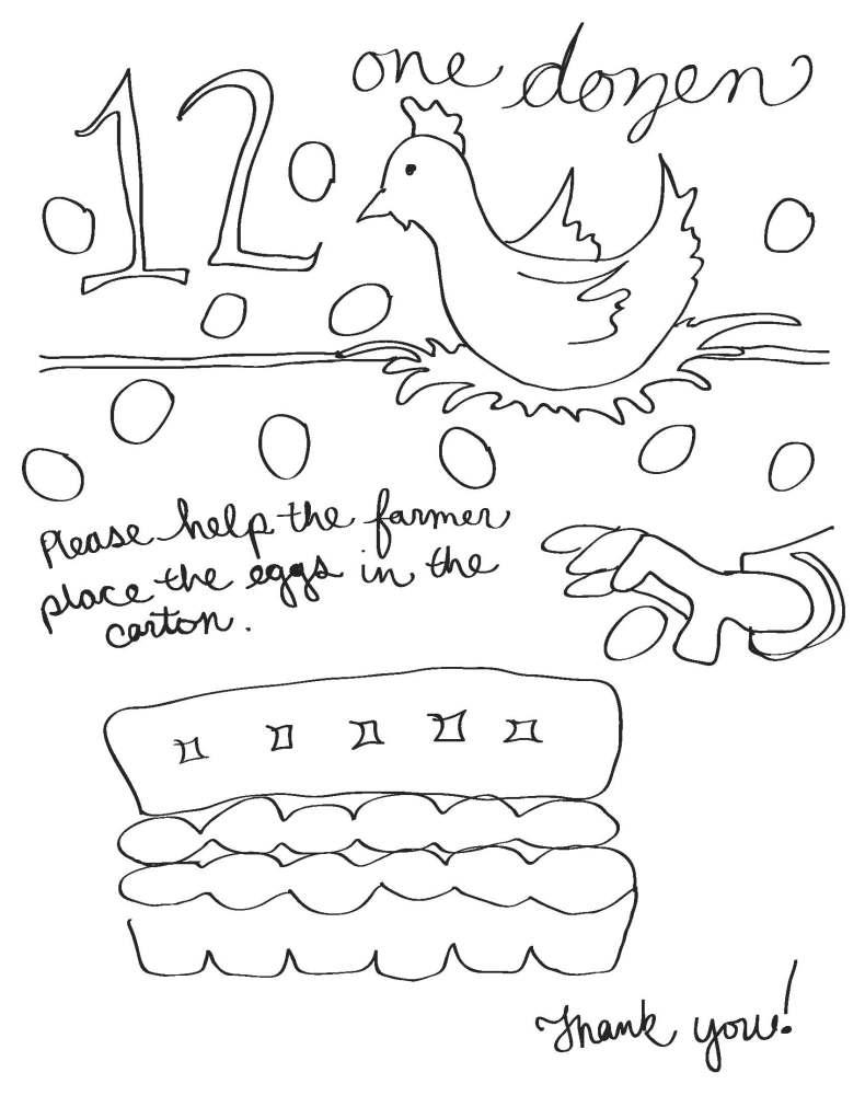 Dozen Worksheet - Hen and Cheerio Eggs