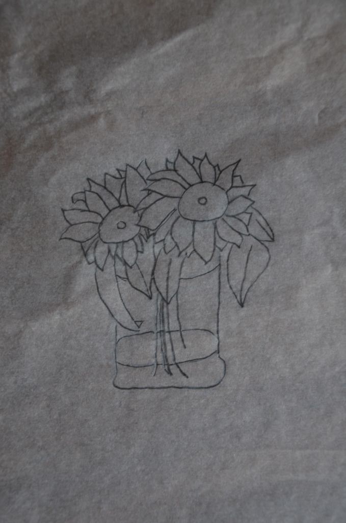 Sunflowers on Tracing Paper